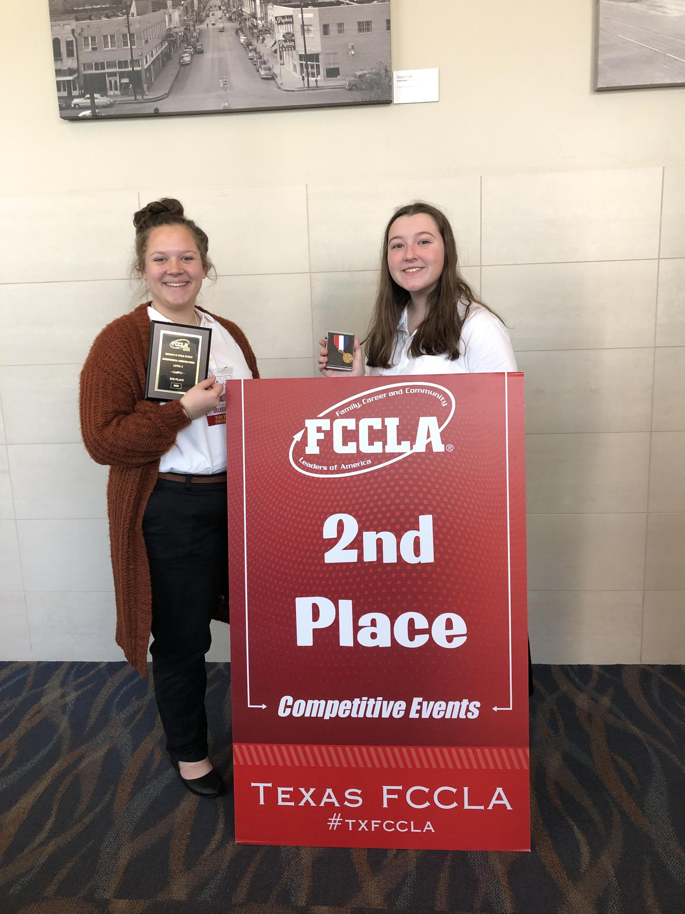 State Qualifiers Emma Houchin and Madelynn Chambliss
