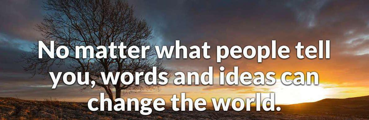 Words can change the world image