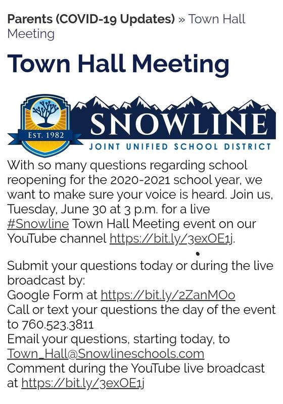 Town Hall Meeting – Today at 3:00 PM Featured Photo