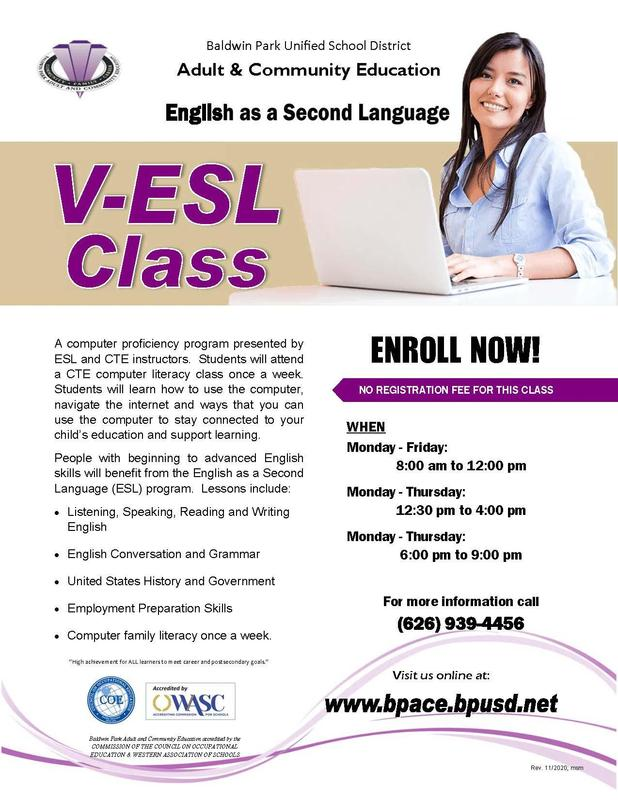 Adult & Community Education English as a Second Language Featured Photo
