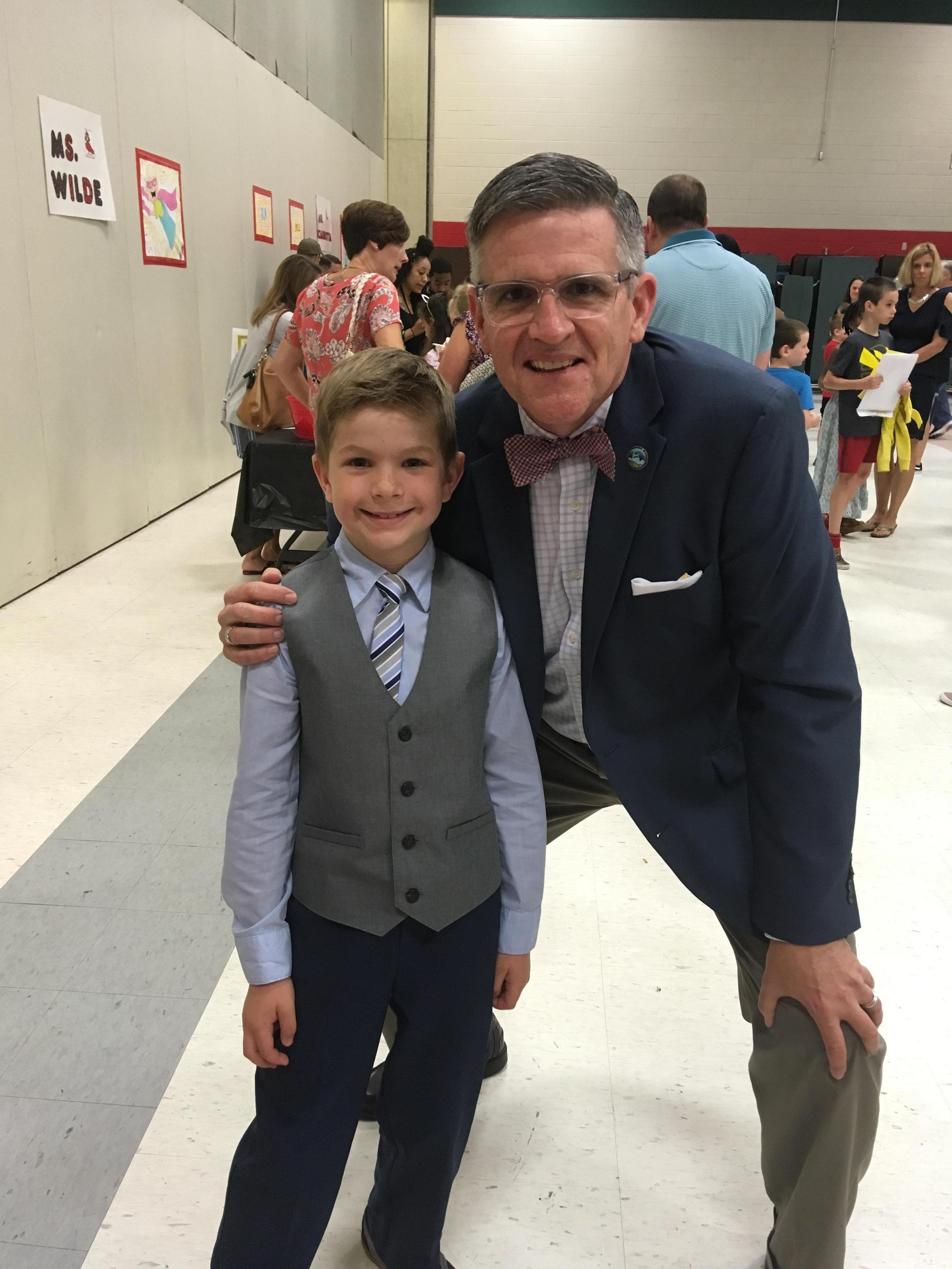 with Lance at the 3rd grade promotion celebration