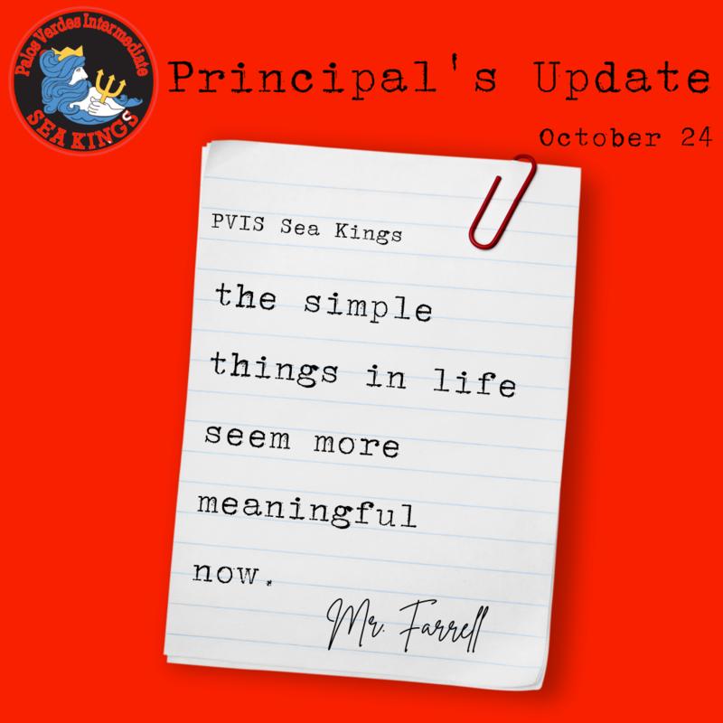 Principal's Update | October 24, 2021 Thumbnail Image