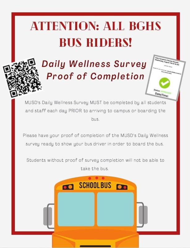 wellness check required for bus