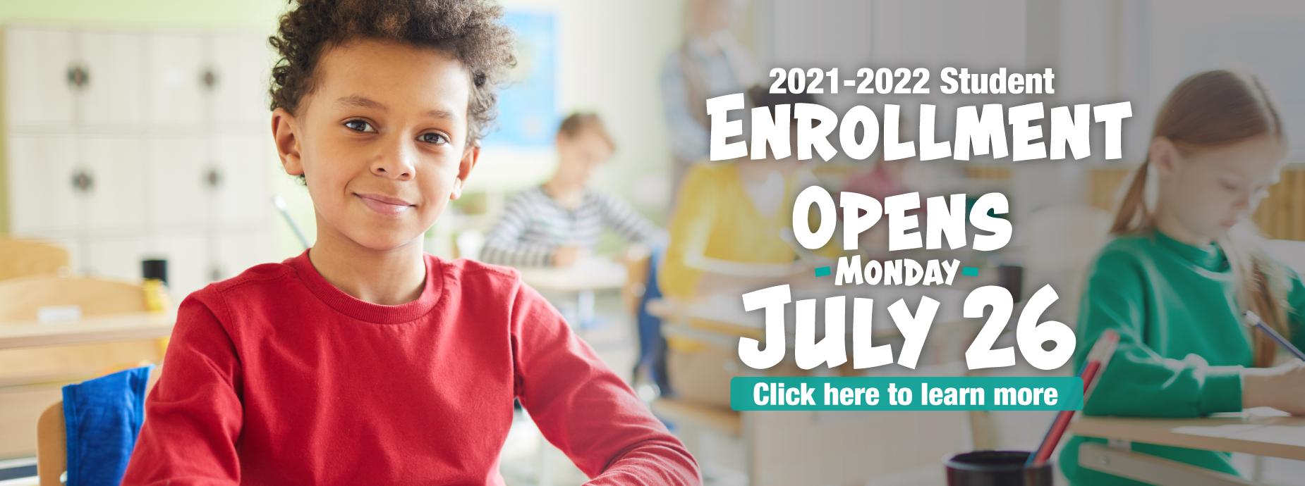 Banner -Enrollment Opens July 26