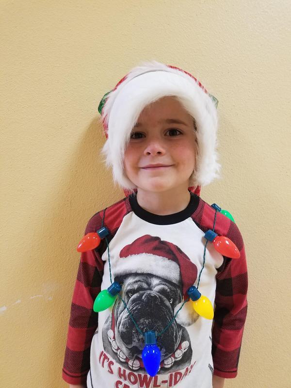 Boy with Christmas spirit