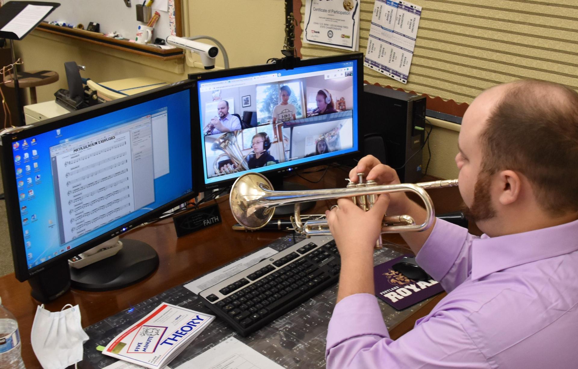 Portland Christian distance learning music teacher