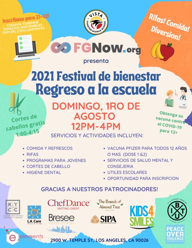 2021 Festival de Bienestar Regreso a la Escuela Featured Photo