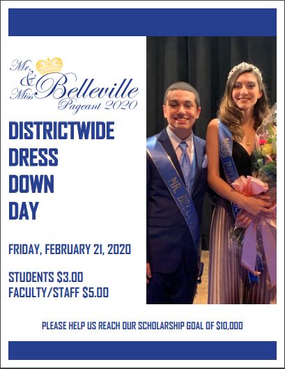 Mr. & Mrs. Belleville Districtwide Dress Down Day! Featured Photo
