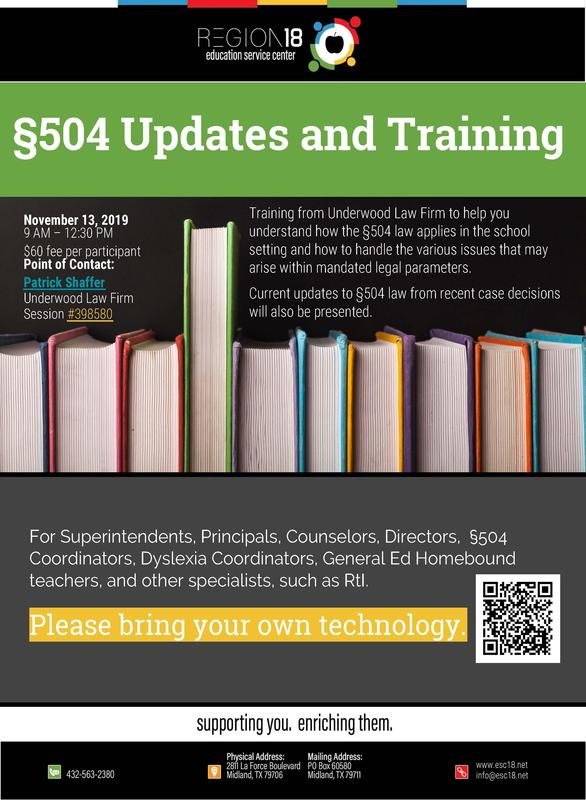 §504 Updates and Training Featured Photo