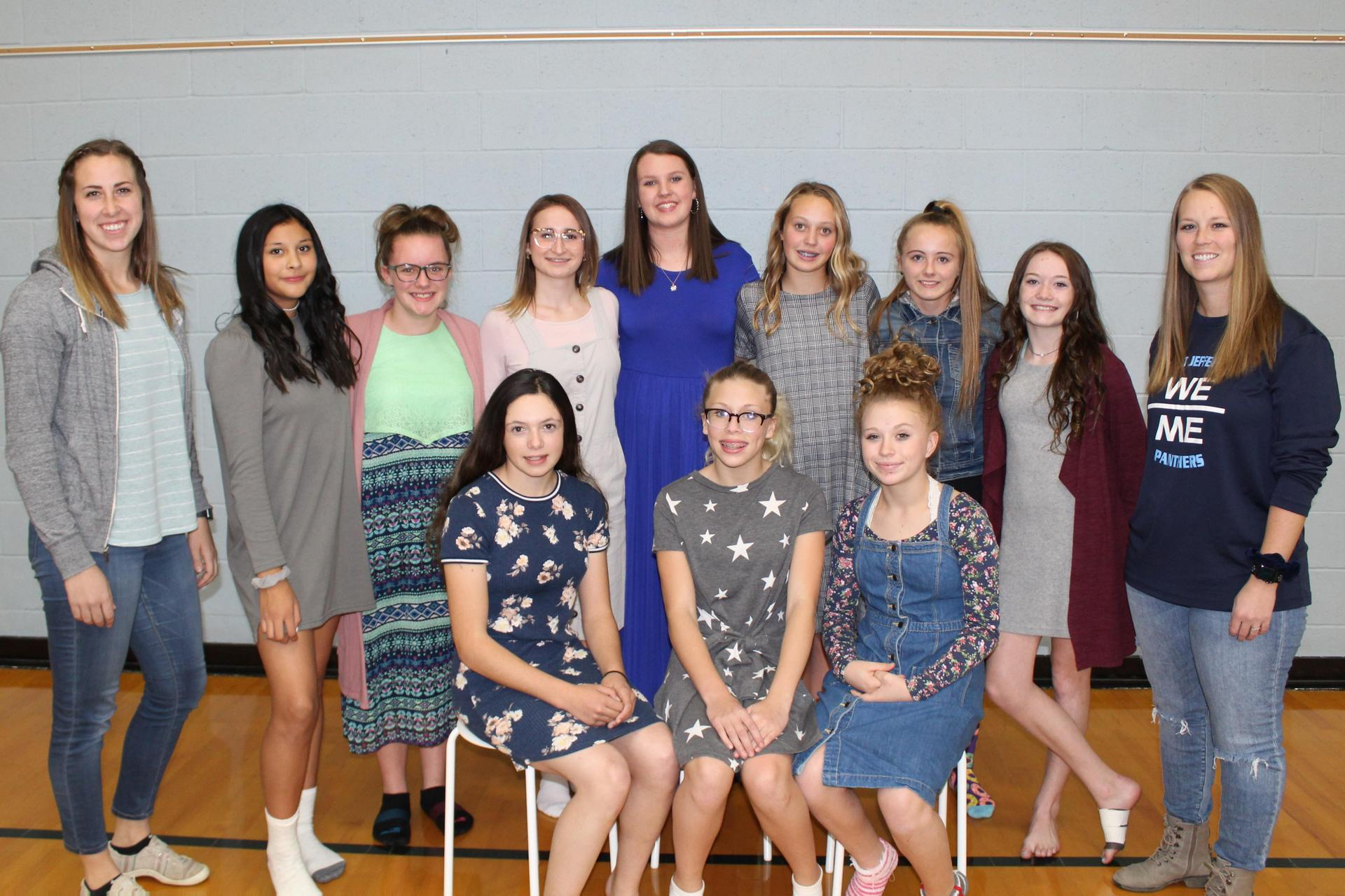 8th Grade Girls Bball Team