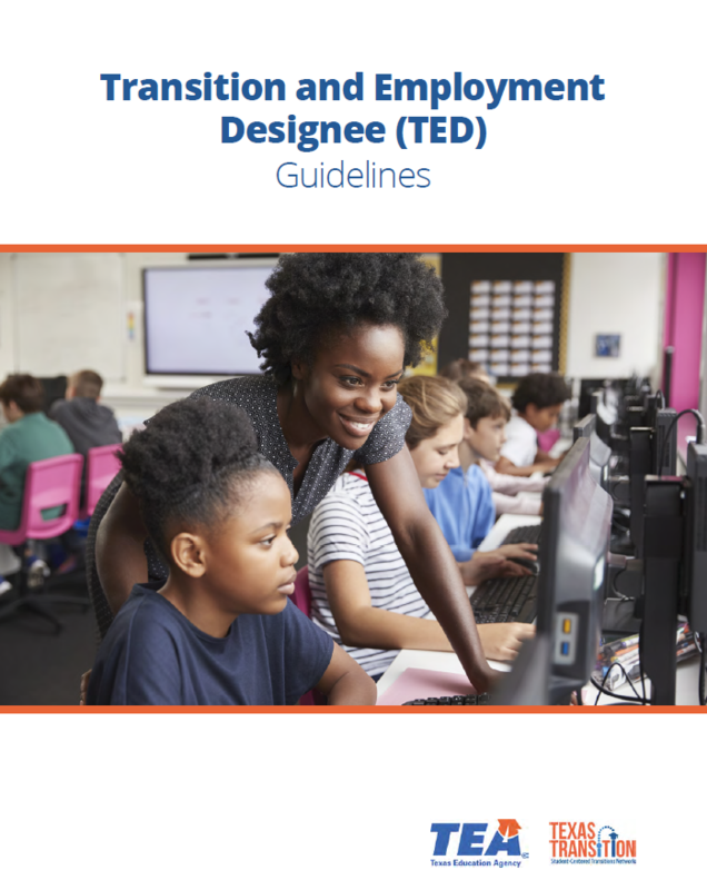 Cover of TED Guidelines Resource with a teacher helping a student
