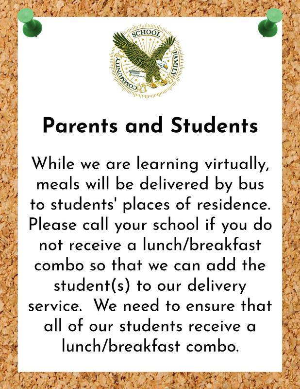 Virtual meals will be delivered to student's homes.