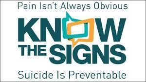 Know the Signs - suicide is preventable