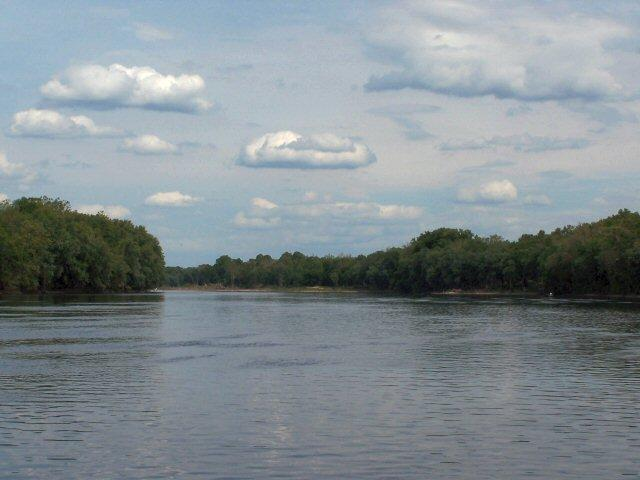 View of Delaware River, looking south from Washington Crossing