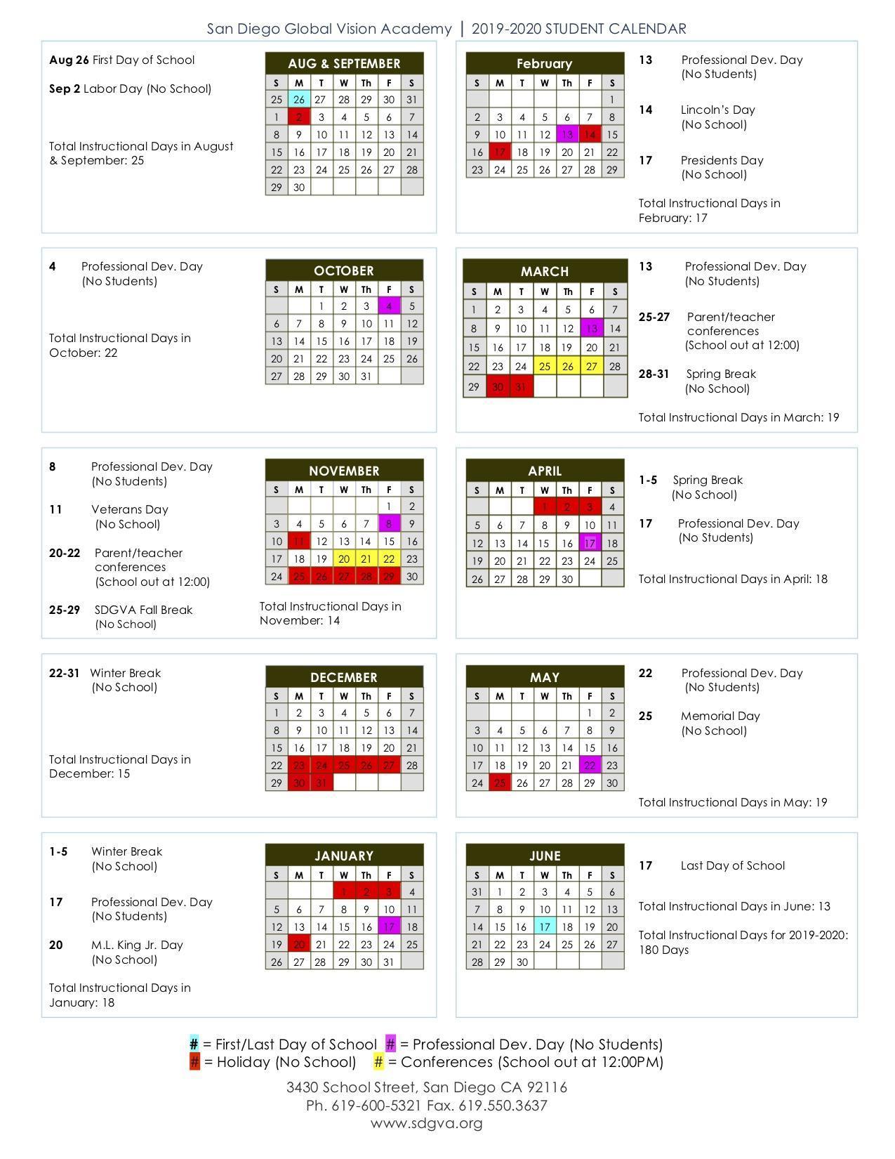 ucsd academic calendar 2020