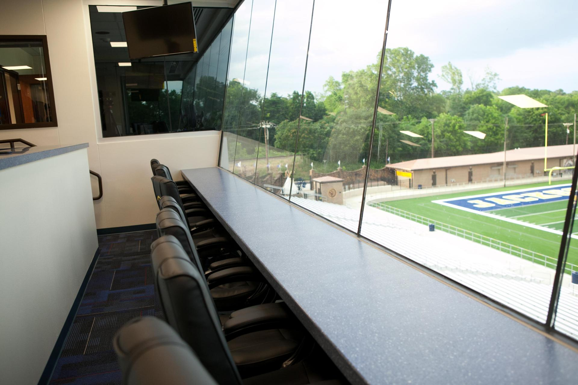 viewing suite in the press box