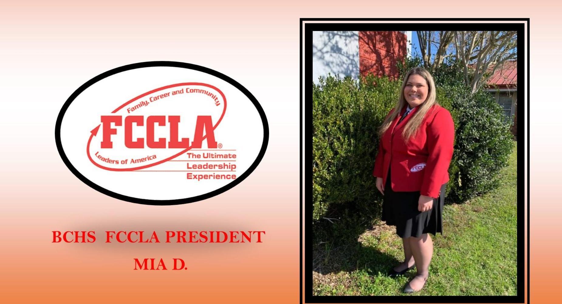 FCCLA President - Mia Davis