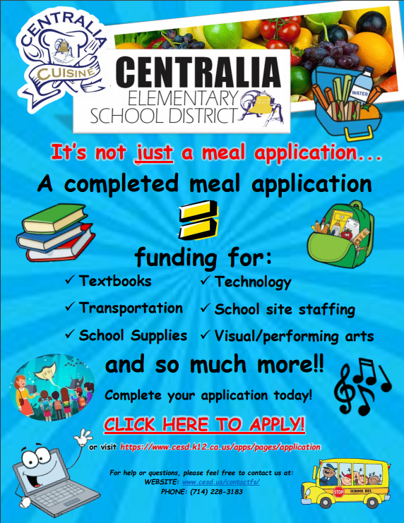 Complete a meal application for CESD today