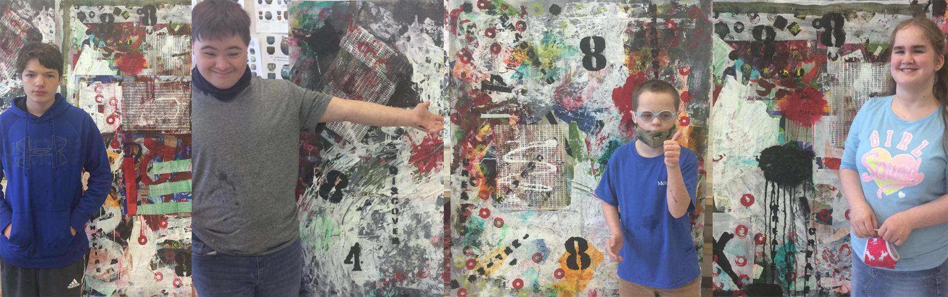 Life Skills Large Format Art Collages with Mr. Herr