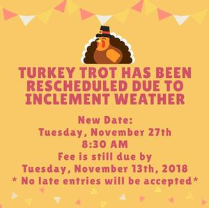Turkey Trot Rescheduled