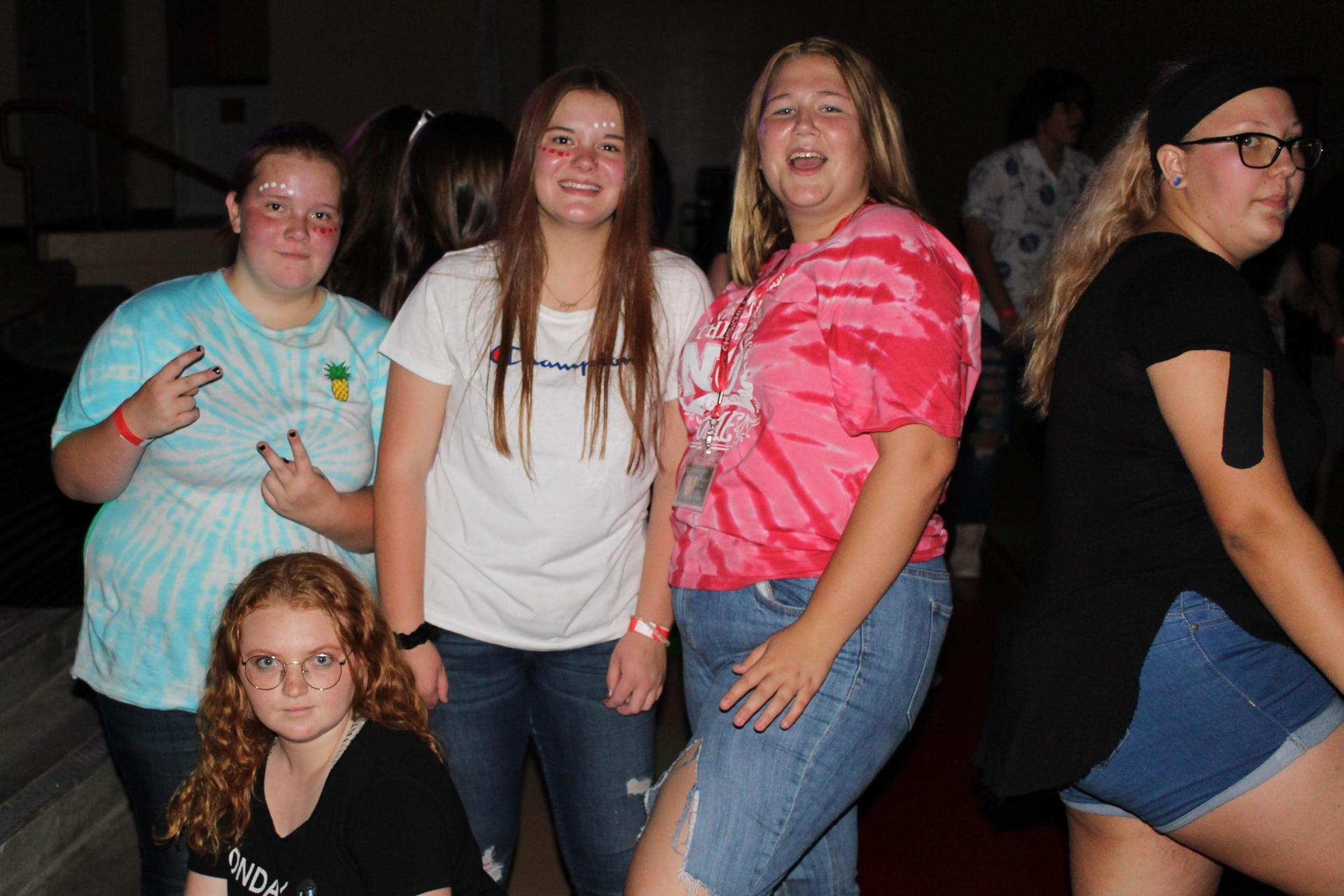 Students at the back to school dance