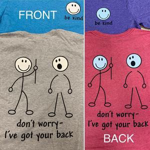 I've got your back Shirt Color Options