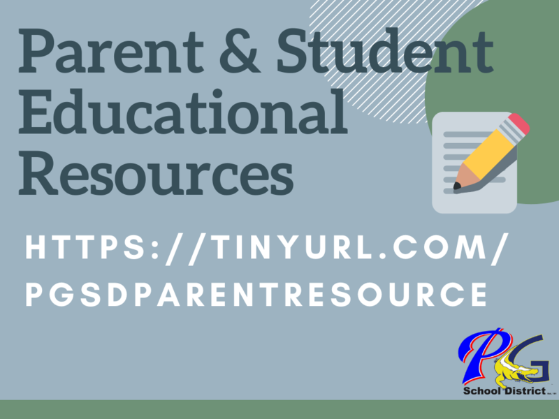 Parent & Student Educational Resources https://sites.google.com/pgsd.ms/educationalresources/home