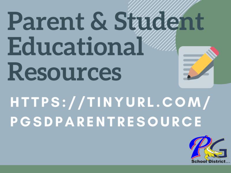 Parent & Student Educational Resources https://sites.google.com/pgsd.ms/educationalresources/home