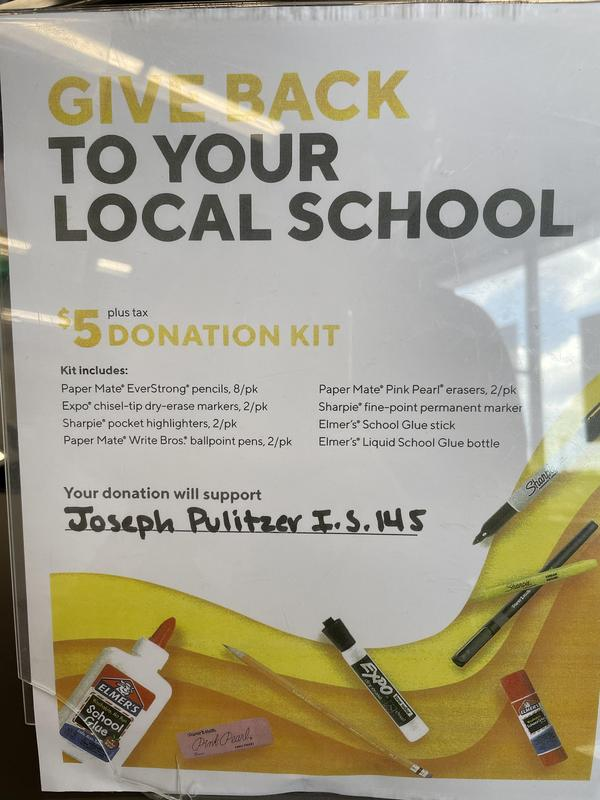 Give Back to Local Schools