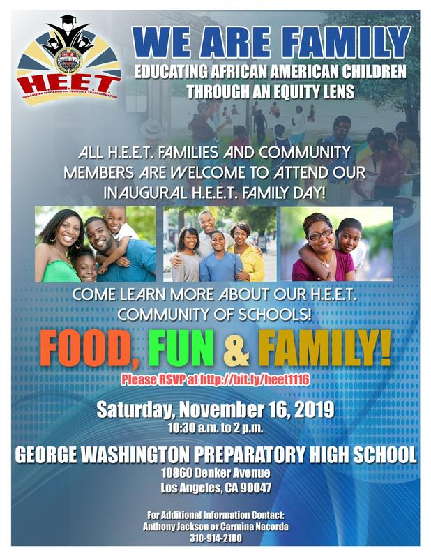 Join us for HEET Family Day this Saturday, November 16 at 10:30am! Featured Photo