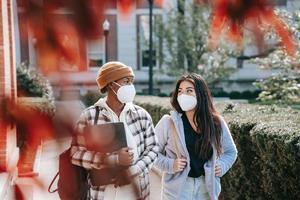 Girls in masks
