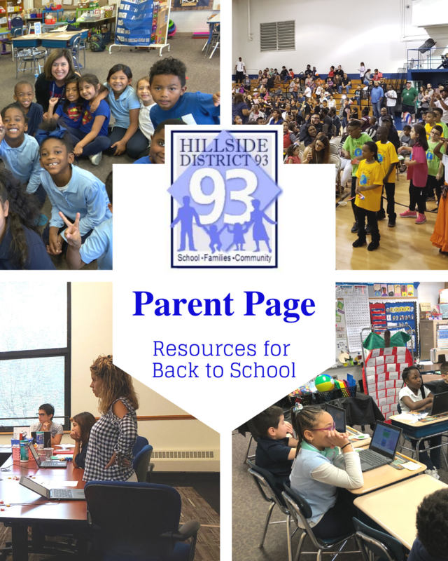 Parent Page - Resources for  Back to School