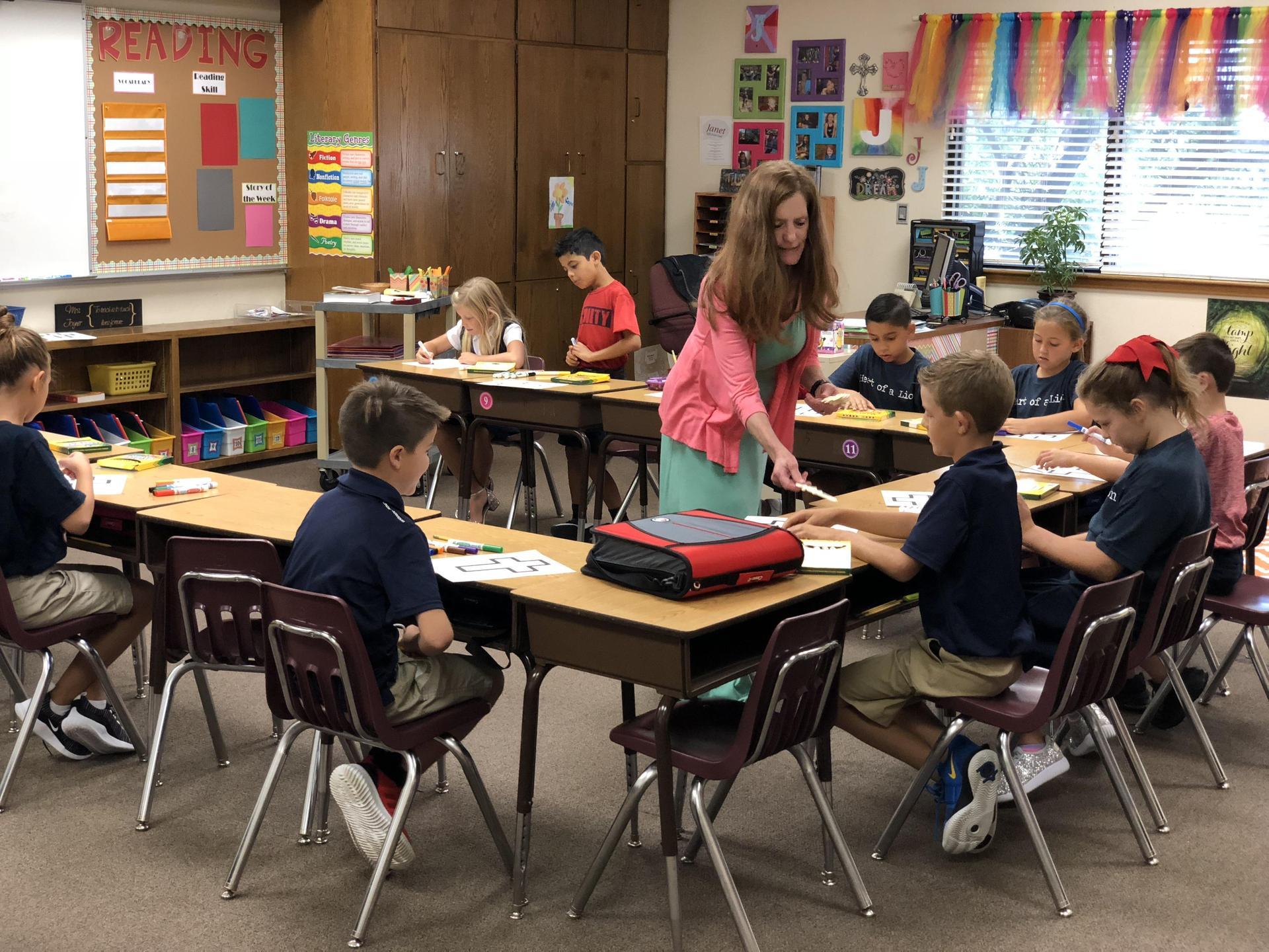 third grade math classs