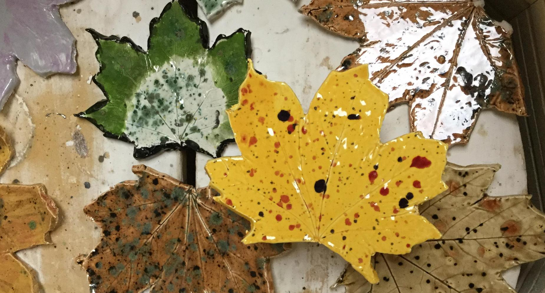 Clay Leaves by Students