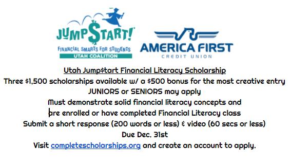 Utah Jumpstart Scholarship