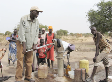 Salva Dut at a water pump