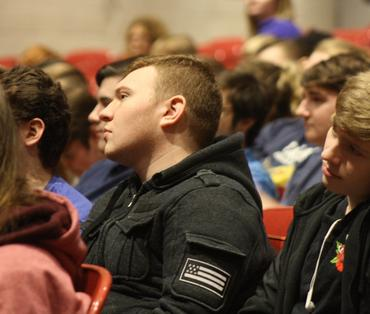 students listening at the attaboy concert