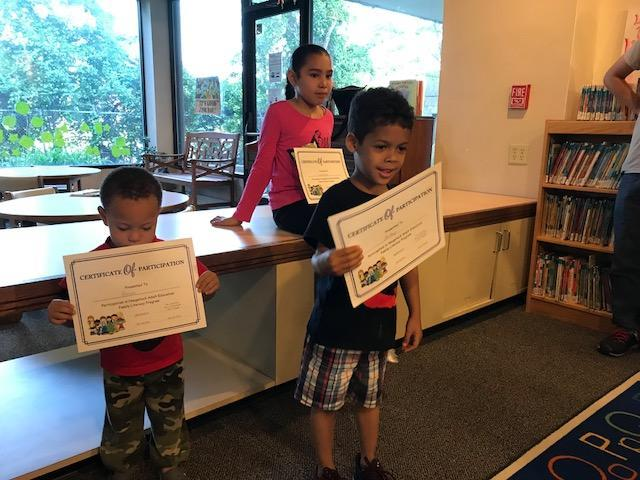 Family Literacy Students at the library