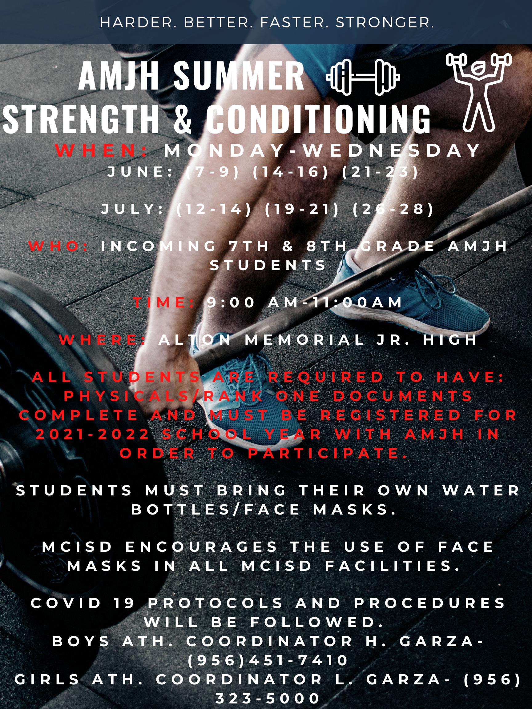 AMJH Summer Strength and Conditioning