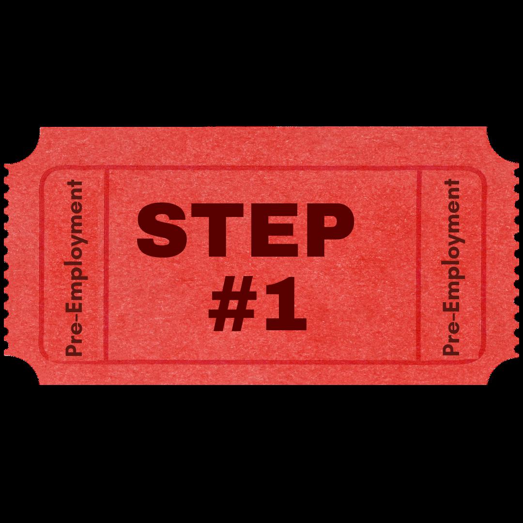 Step 1 Pre-Employment