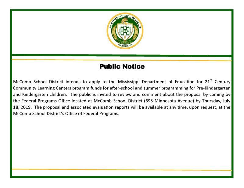 Public notice for 21st Century comments