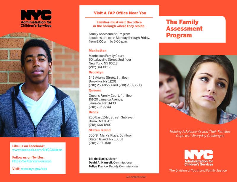 Family Assessment Program Brochure