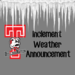 inclement weather announcement