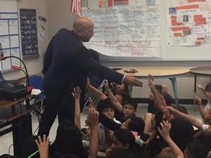 DA Johnny Gogo presents to 3rd grade students, image 2