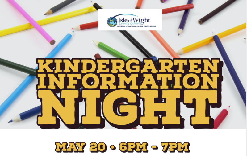 Kindergarten Information Night: May 20, 6:00-7:00 pm