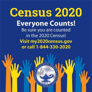 Help us ensure high achievement for ALL learners and be counted in the 2020 Census!