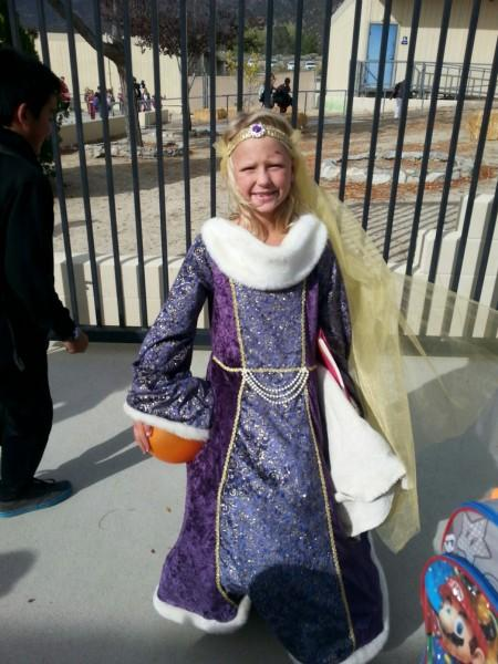 Student in Beautiful Princess costume