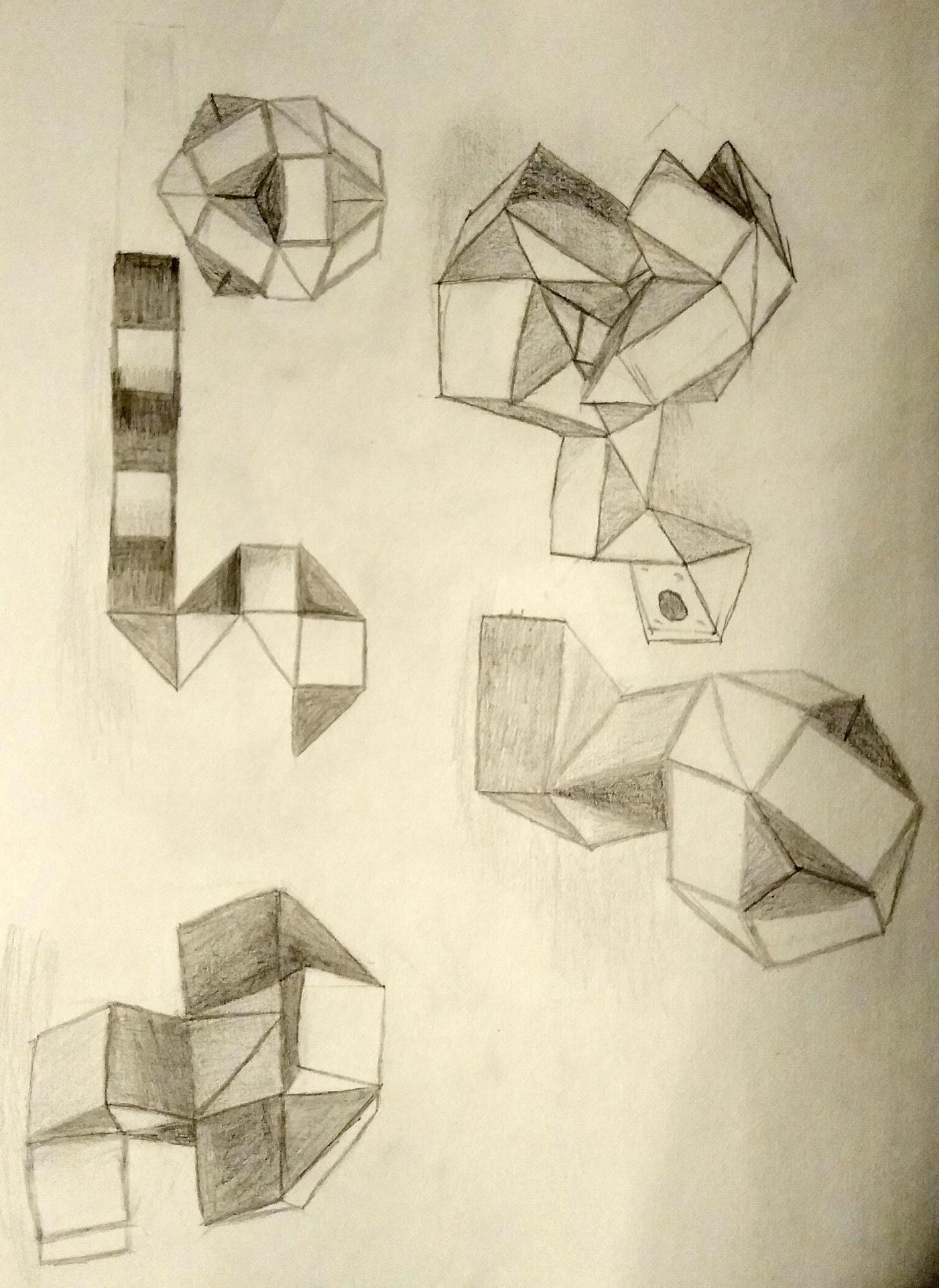 rubix cube drawing