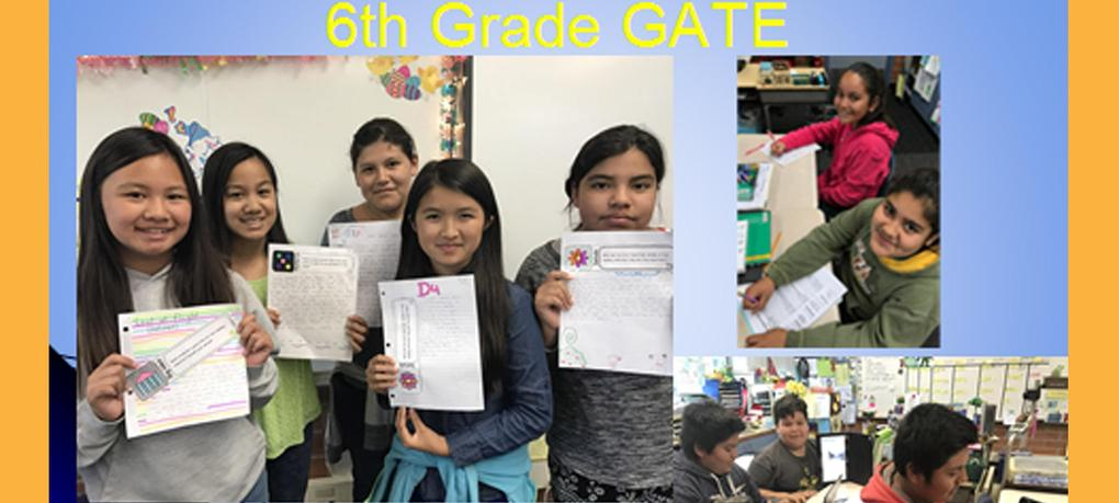 DeMille 6th Grade G.A.T.E. students