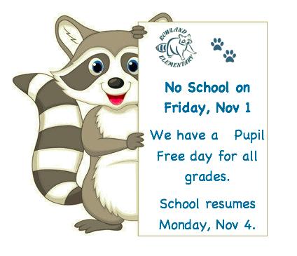 No School on Friday, Nov 1 Featured Photo